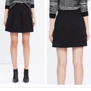 Madewell Black Pleated Mini Skirt